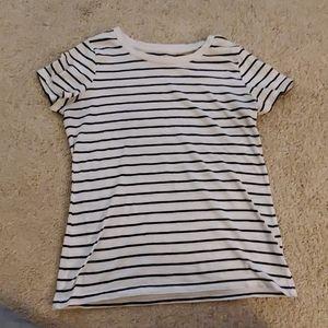 Ladies striped tee